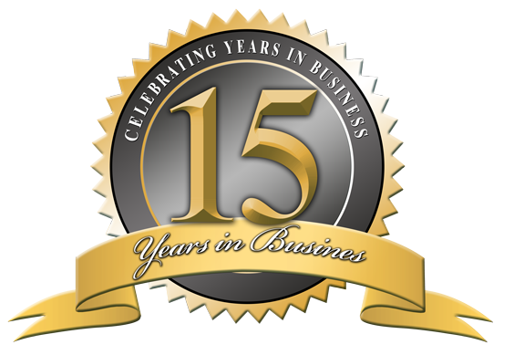 15 Years in Business Badge